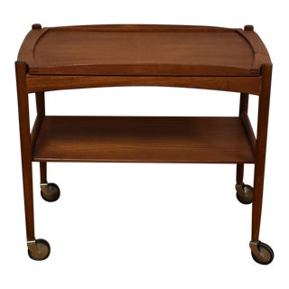 Danish Modern Teak Bar Cart