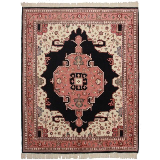 Rugsindallas Vintage Persian Design Wool Area Rug: Rugsindallas Vintage Persian Heriz Style Rug