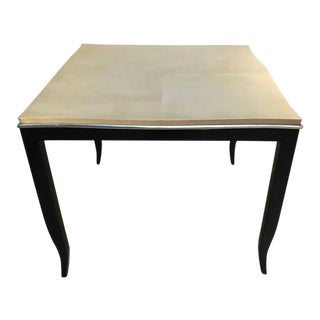 Karl Springer Style Lacquered Goatskin Top Table