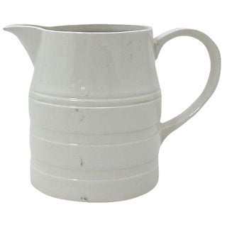 English White Ironstone Kitchen Jug