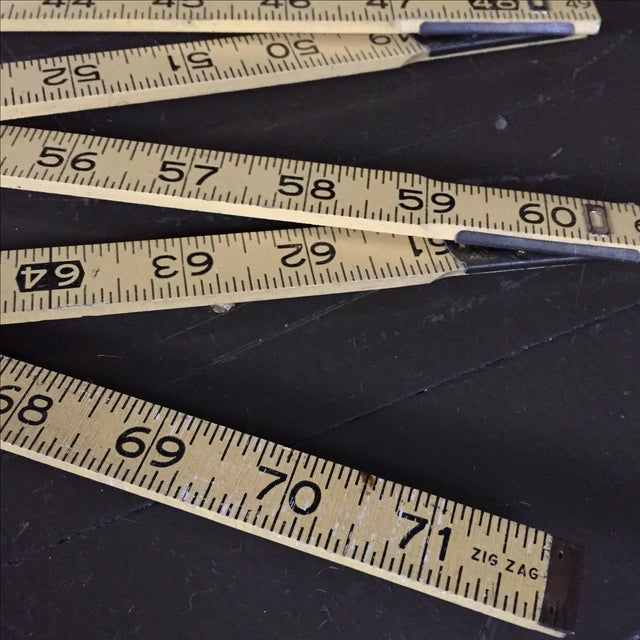 Stanley Extension Wood & Brass Ruler - Image 3 of 9