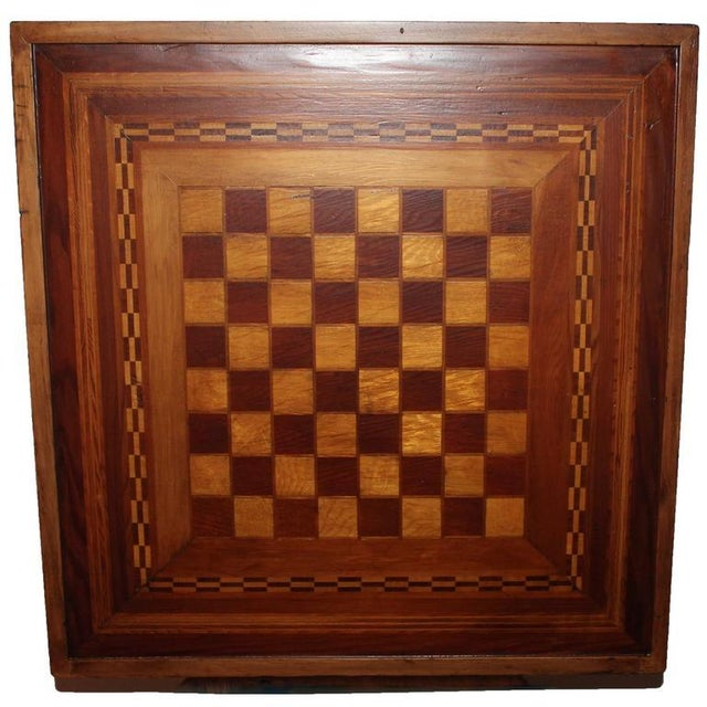Early 20th Century Reversible Inlaid Wood Gameboard - Image 2 of 5