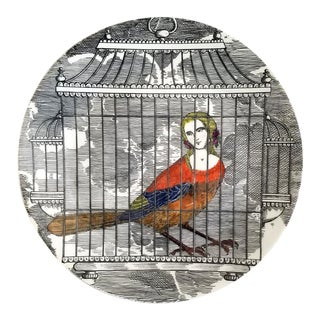 Piero Fornasetti Porcelain Plate Number 9