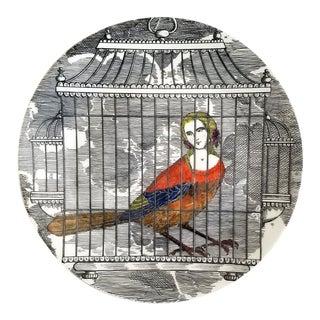 Piero Fornasetti Porcelain Plate Number 9