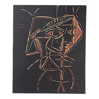 """Vintage Picasso Lithograph-""""Tete De Femme"""""""