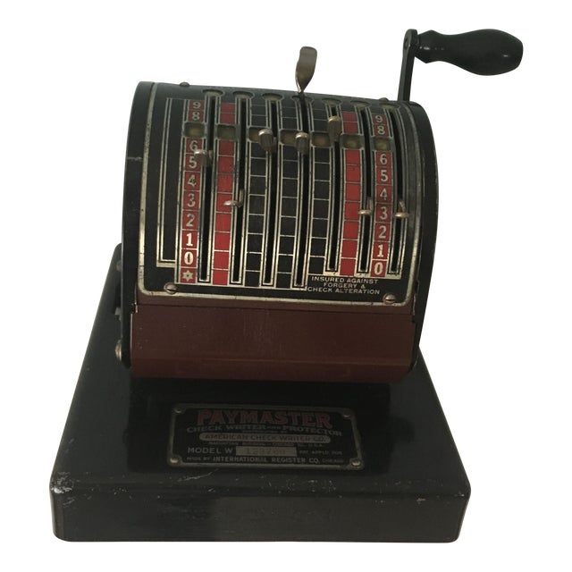 1930s Antique Paymaster Office Check Writer - Image 1 of 11