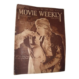 1923 Copy of Movie Weekly Magazine With Charlie Chaplin