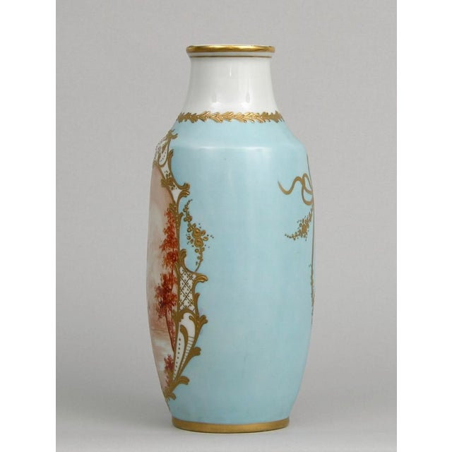 French Antique Porcelain Toile Vase - Image 5 of 10