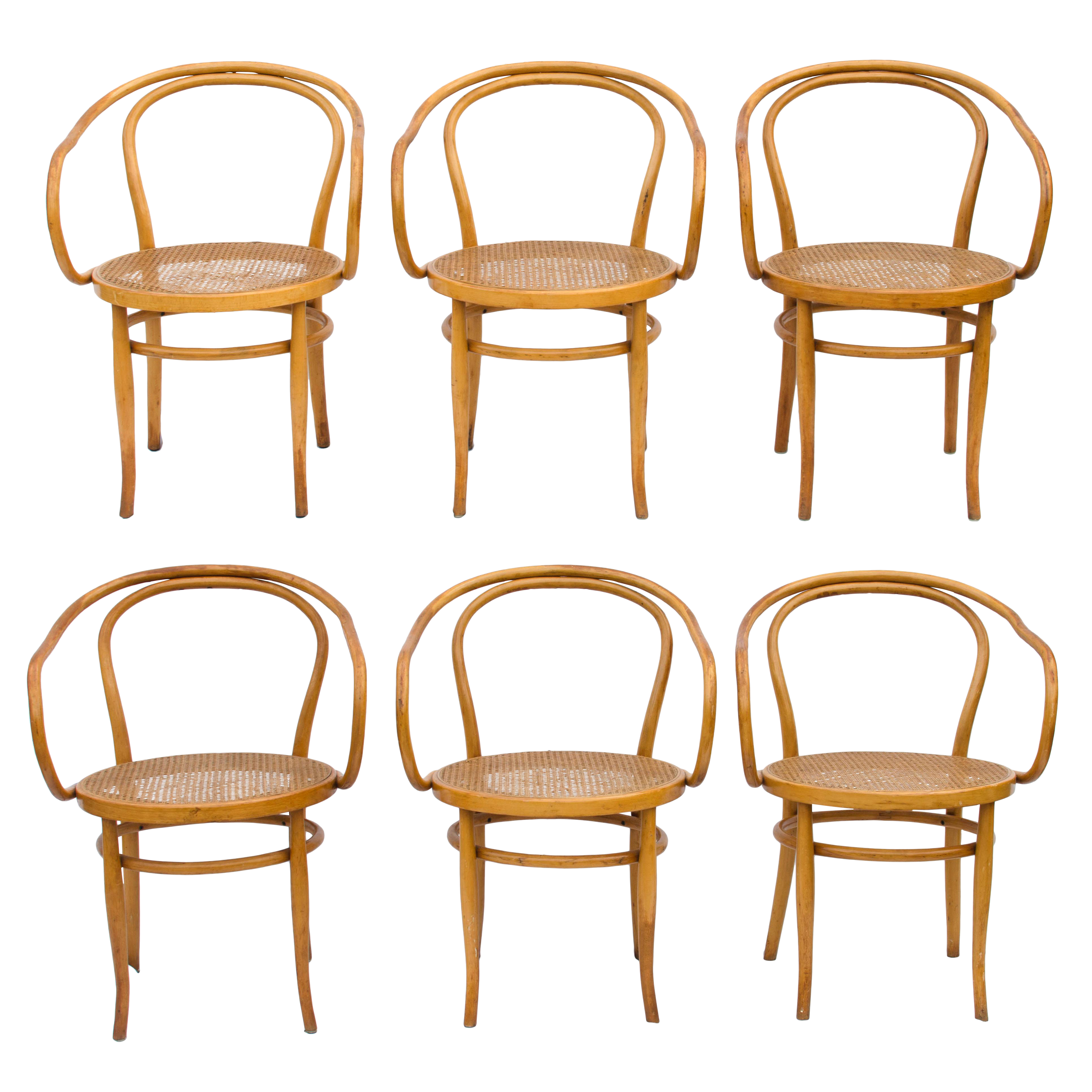 Captivating Thonet Model 209 Bentwood Chairs   Set Of 6