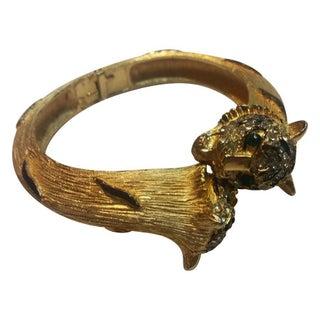 1960s Tiger Crystal Clapmer Bracelet