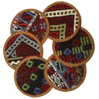 Kilim Coasters Set of 6 - Haçlı