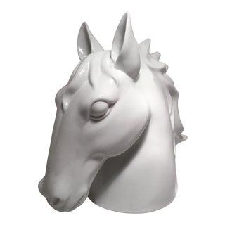 White Porcelain Horse Head