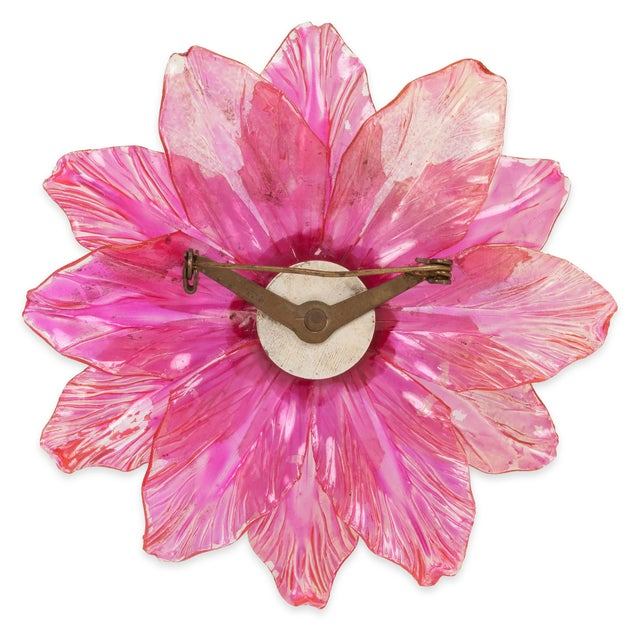 Image of Pink Celluloid Flower Pin