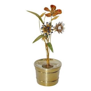 Gorham Sterling & Enamel Flower Arrangement Figure