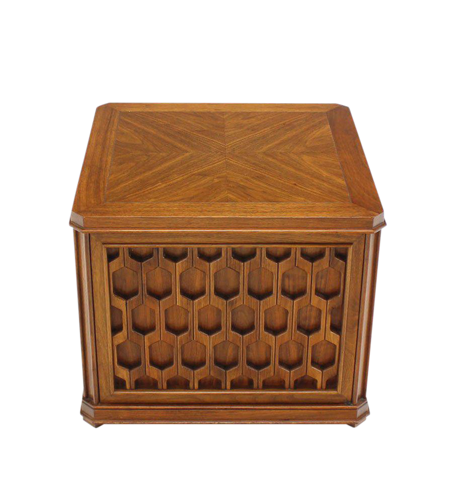 Heavy Pierce Carved Honeycomb One Door Cube Shape Side Table - Image 1 of 5  sc 1 st  DECASO & Distinguished Heavy Pierce Carved Honeycomb One Door Cube Shape ... pezcame.com
