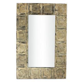 Vintage Tin Ceiling Tile Mirror