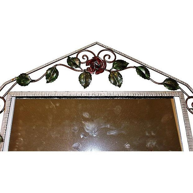 Image of French Iron Art-Deco Mirror