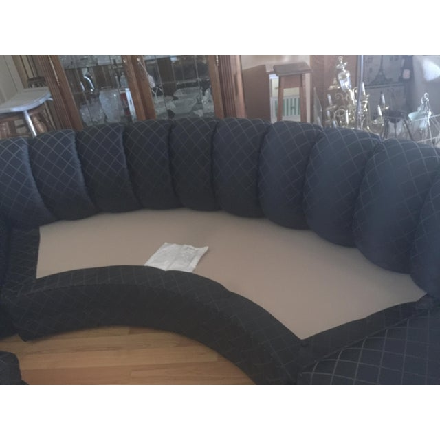one of a kind beautiful black sectional sofa beautiful channel tufted includes 8 custom. Black Bedroom Furniture Sets. Home Design Ideas
