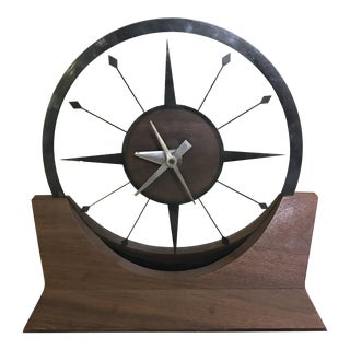 Mid-Century Modern Mantel Clock