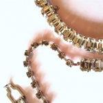 Image of Eisenberg Rhinestone Necklace & Bracelet 1950s