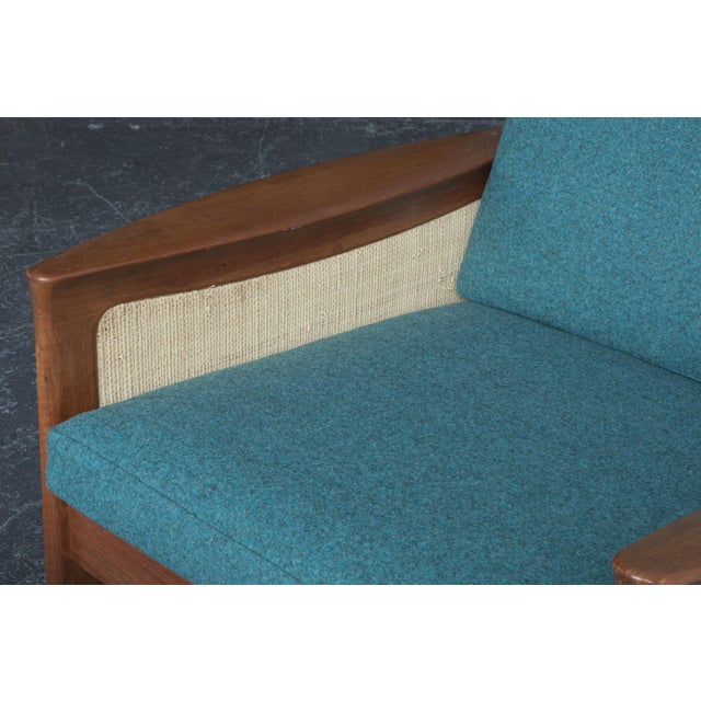 Danish High Back Lounge Chair & Ottoman - Image 10 of 10