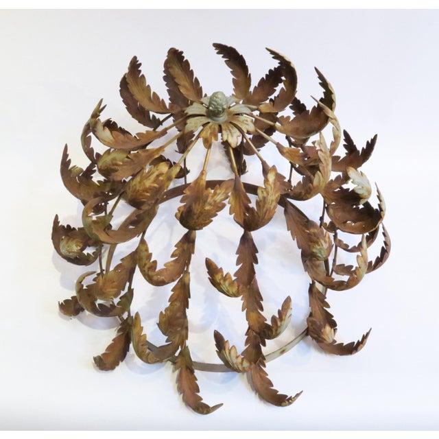 Vintage Metal Leaf Chandelier Frame - Image 5 of 6
