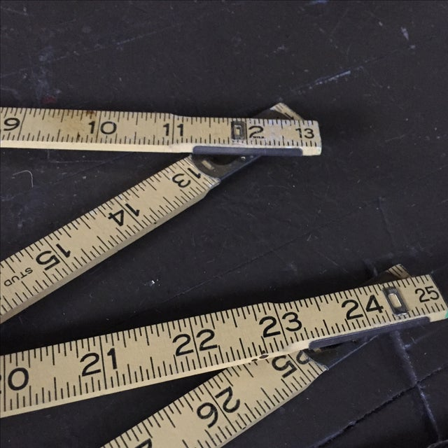 Image of Stanley Extension Wood & Brass Ruler