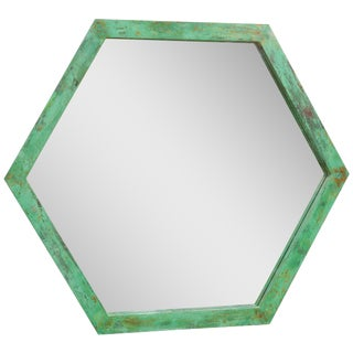 Large Architectural Hexagonal Mirror