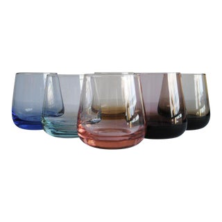 Mid-Century Rocks Glasses, Set of 6