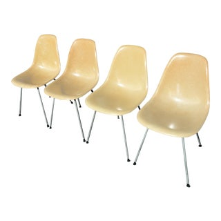 Eames for Herman Miller Fiberglass Zenith Shell Chairs - Set of 4