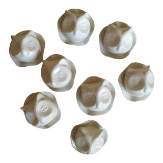 Owl Ceramic Drawer Pulls - Set of 8