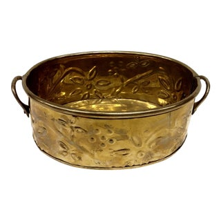 Vintage Brass Planter With Handles