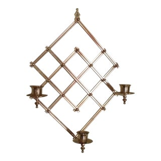 Modernist Brass Wall Candle Holder