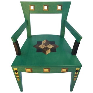 Katherine Stevens Hand-Painted Faux Marquetry Armchair