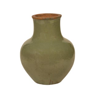 Green Ceramic Pot Vase