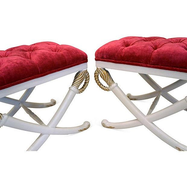 Hollywood Regency Sword Stools - Pair - Image 4 of 4