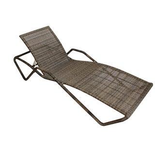 Faux Rattan Lounge Chair