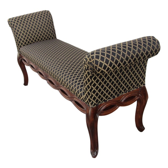 Rolled Arm Upholstered Braided Bench Chairish
