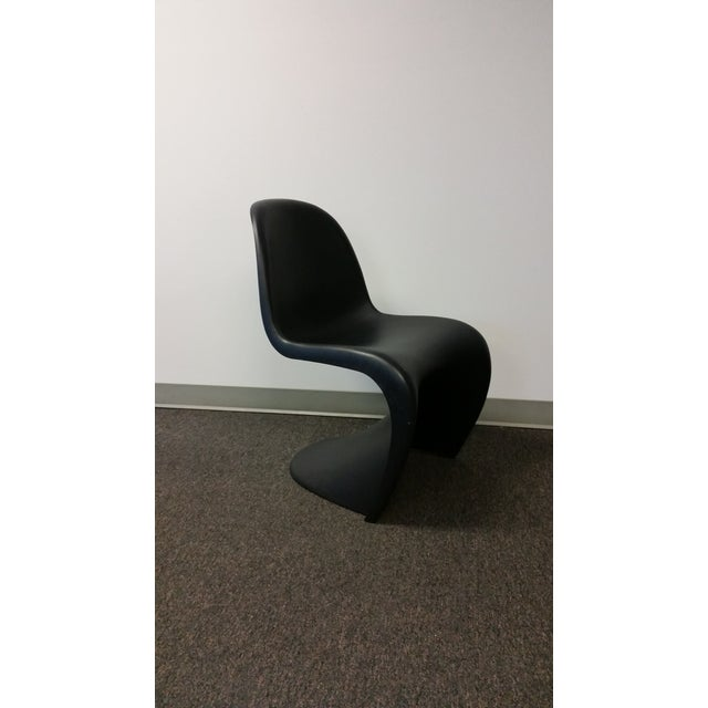 Image of Mid-Century Black Panton Chairs - Pair