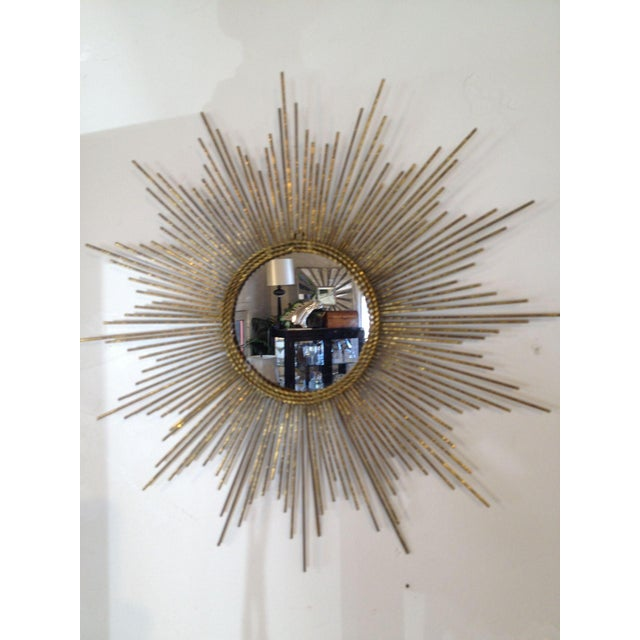 Image of Glam Gold Sun Burst Mirror