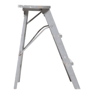 Wooden Gray Step Stool