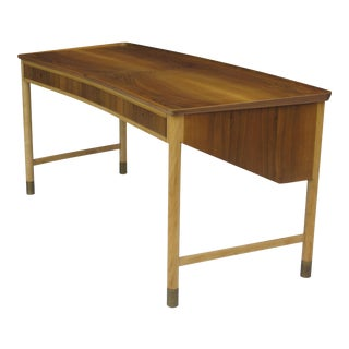 1940s Danish Walnut and Beech Desk