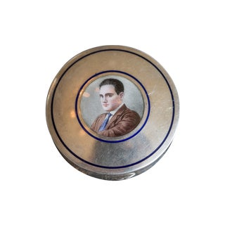 Antique Italian Silver Male Portrait Snuff Box