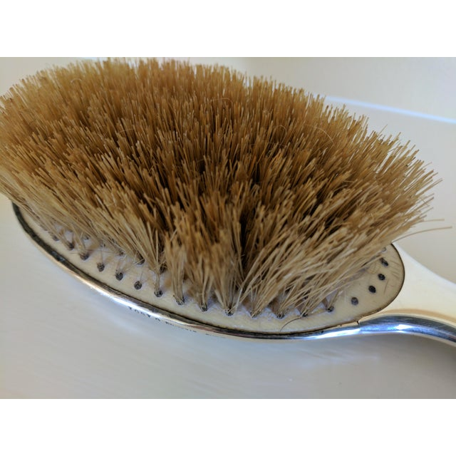 Gorham Sterling Silver Monogrammed Hairbrush - Image 7 of 8