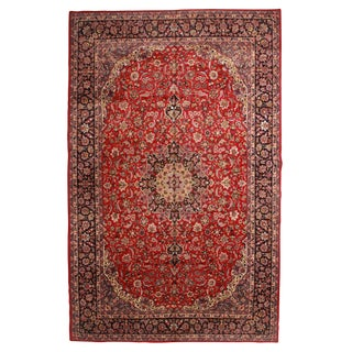 Vintage Persian Najafabad Hand Knotted Wool Rug- 10′8″ × 16′8″