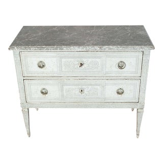 19th Century French Painted Chests of Drawers Commode