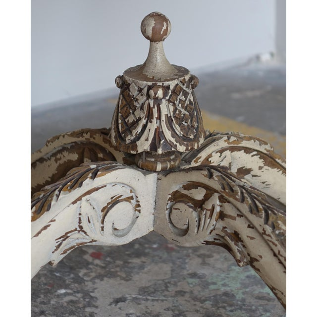 Image of French Carved & Painted Stone Top Table