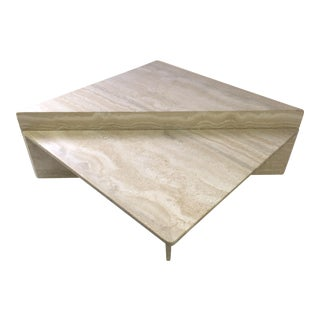 Modernist 2 Piece Italian Travertine Coffee Table