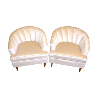 Mid-Century Hollywood Tub Chairs - A Pair