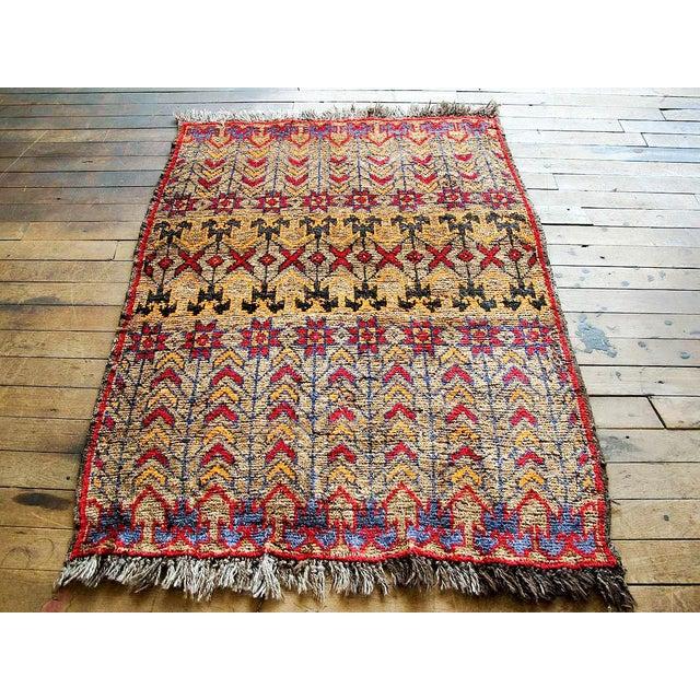Image of Vintage Brown Persian Tribal Rug - 2′8″ × 3′5″